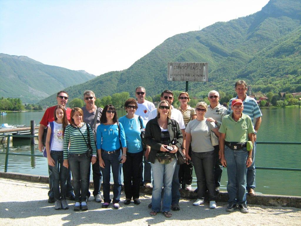 Bergamascos de Botuverá visitando a terra dos antepassados - 2009